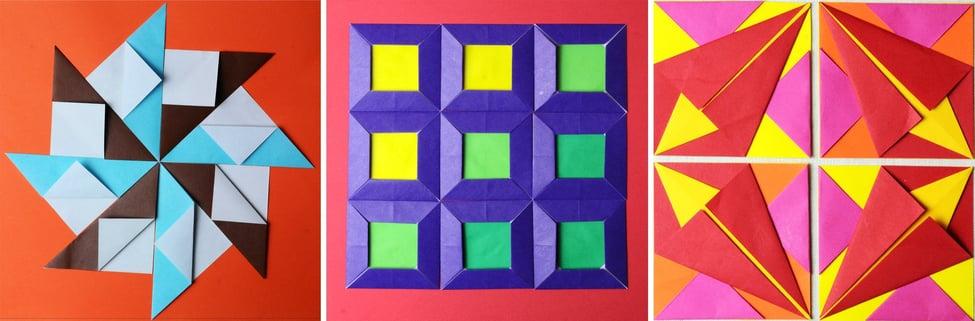 Ejercicios de origami